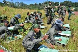 Patrol navigation training field exercise